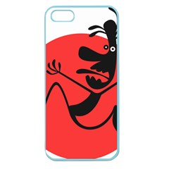 Running Man Apple Seamless Iphone 5 Case (color)