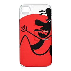 Running Man Apple Iphone 4/4s Hardshell Case With Stand