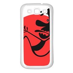 Running Man Samsung Galaxy S3 Back Case (White)