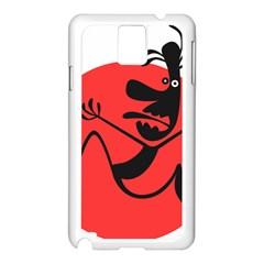 Running Man Samsung Galaxy Note 3 N9005 Case (White)