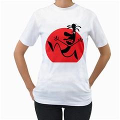 Running Man Women s T-Shirt (White)