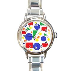Random Geometrics Round Italian Charm Watch