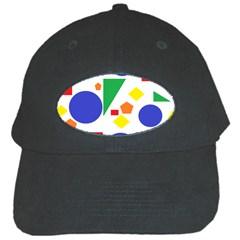 Random Geometrics Black Baseball Cap