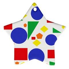 Random Geometrics Star Ornament