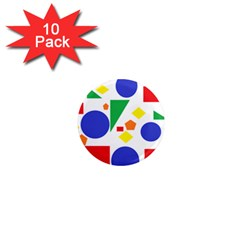 Random Geometrics 1  Mini Button Magnet (10 pack)