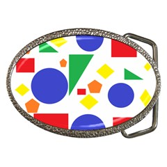 Random Geometrics Belt Buckle (Oval)