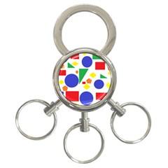 Random Geometrics 3 Ring Key Chain