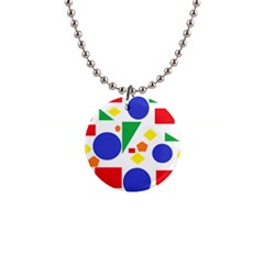 Random Geometrics Button Necklace