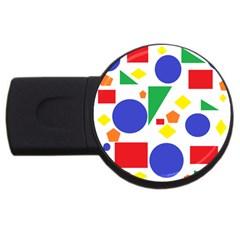 Random Geometrics 4GB USB Flash Drive (Round)