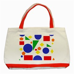 Random Geometrics Classic Tote Bag (Red)