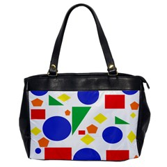 Random Geometrics Oversize Office Handbag (One Side)