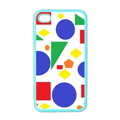 Random Geometrics Apple Iphone 4 Case (color)