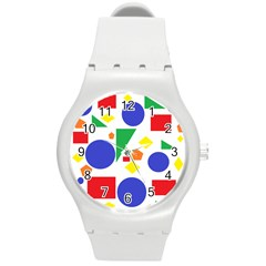 Random Geometrics Plastic Sport Watch (Medium)