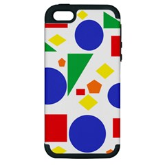 Random Geometrics Apple Iphone 5 Hardshell Case (pc+silicone)