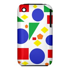 Random Geometrics Apple iPhone 3G/3GS Hardshell Case (PC+Silicone)