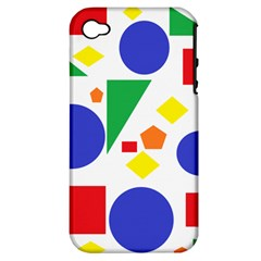 Random Geometrics Apple Iphone 4/4s Hardshell Case (pc+silicone)