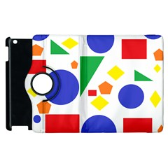 Random Geometrics Apple iPad 3/4 Flip 360 Case