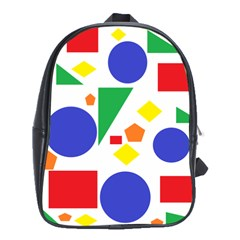 Random Geometrics School Bag (XL)