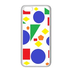 Random Geometrics Apple Iphone 5c Seamless Case (white)