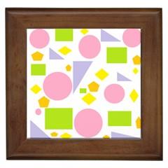 Spring Geometrics Framed Ceramic Tile