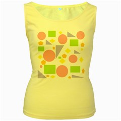 Spring Geometrics Women s Tank Top (Yellow)