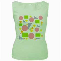 Spring Geometrics Women s Tank Top (Green)