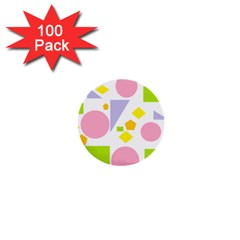 Spring Geometrics 1  Mini Button (100 pack)