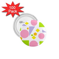 Spring Geometrics 1.75  Button (100 pack)