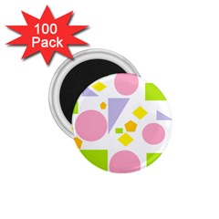 Spring Geometrics 1.75  Button Magnet (100 pack)