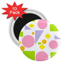 Spring Geometrics 2.25  Button Magnet (10 pack)