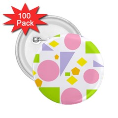 Spring Geometrics 2.25  Button (100 pack)
