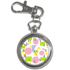 Spring Geometrics Key Chain Watch