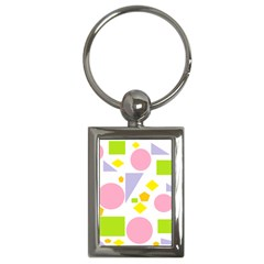 Spring Geometrics Key Chain (Rectangle)