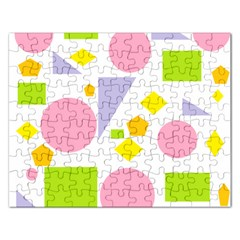 Spring Geometrics Jigsaw Puzzle (Rectangle)