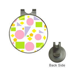 Spring Geometrics Hat Clip with Golf Ball Marker