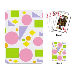 Spring Geometrics Playing Cards Single Design