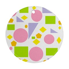 Spring Geometrics Round Ornament (Two Sides)