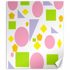Spring Geometrics Canvas 20  x 24  (Unframed)