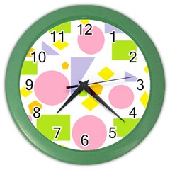 Spring Geometrics Wall Clock (Color)