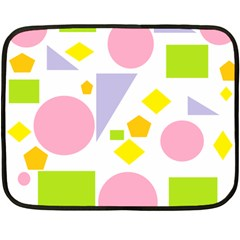 Spring Geometrics Mini Fleece Blanket (Two Sided)