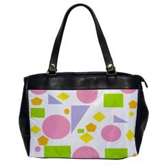 Spring Geometrics Oversize Office Handbag (one Side)