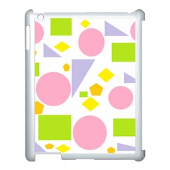 Spring Geometrics Apple iPad 3/4 Case (White)