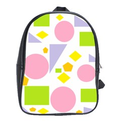 Spring Geometrics School Bag (xl)