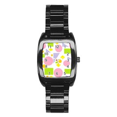 Spring Geometrics Stainless Steel Barrel Watch