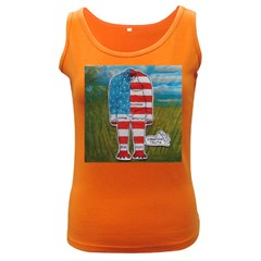 Painted Flag Big Foot Homo Erec Women s Tank Top (Dark Colored)