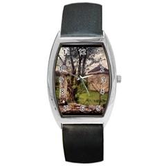 Toulongergues2 Tonneau Leather Watch