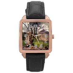 Toulongergues2 Rose Gold Leather Watch