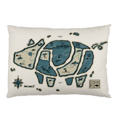 Map Of The Swine Islands Pillow Case