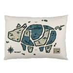 Map of the Swine Islands Pillow Case (Two Sides) Front