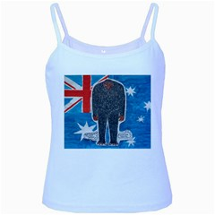 Big Foot H,australia Flag Baby Blue Spaghetti Tank